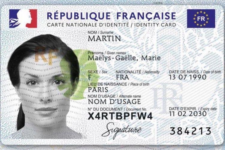 La nouvelle carte d'identité nationale entre en vigueur aujourd'hui