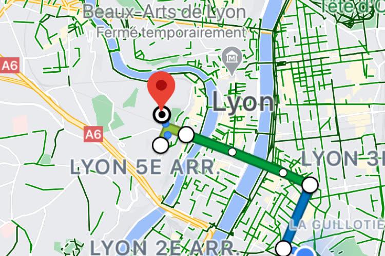Google Maps : après Lille, Lyon a ses transports en commun au complet