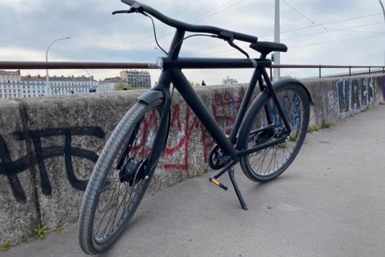 Premier essai de l'app Localiser avec le vélo VanMoofS3