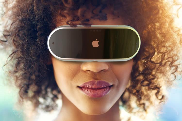 Portrait-robot du casque de réalité virtuelle et augmentée d'Apple