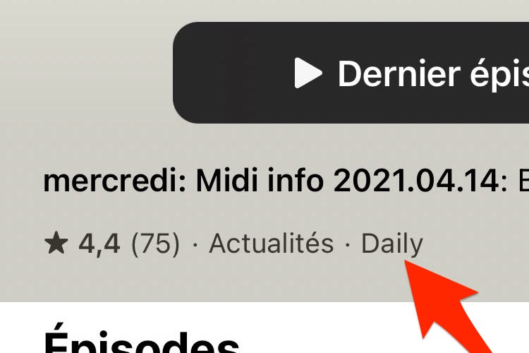 iOS 14.5 : l'app Podcasts tente de deviner la périodicité des émissions