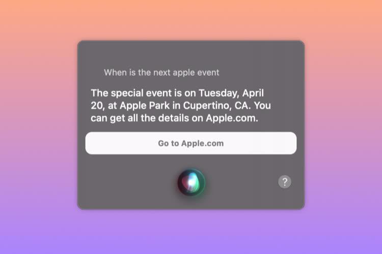 Siri annonce un special event le 20avril prochain