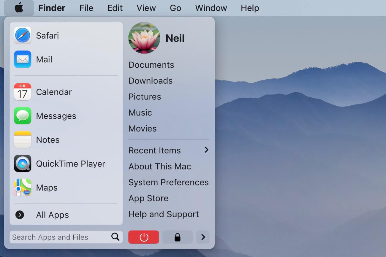 Le menu Démarrer de Windows serait-il sur macOS dans un univers parallèle?