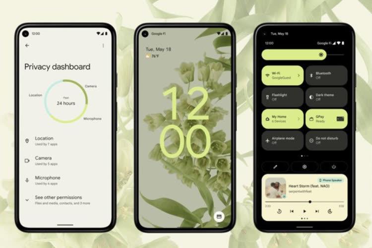 Ravalement de façade pour Android 12