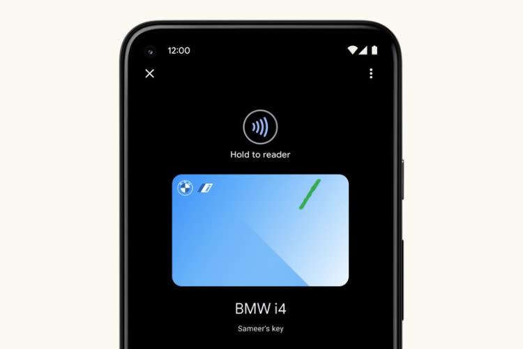 """Une fonction """"Clé de voiture"""" aussi pour Android 12"""