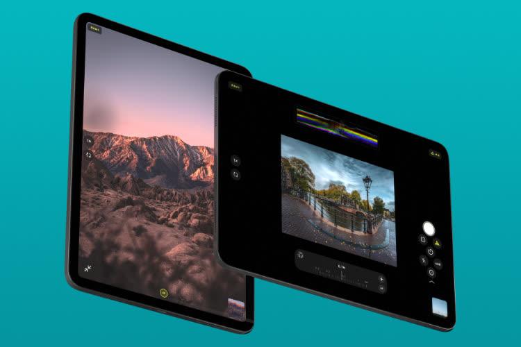 L'app photo Halide s'adapte plutôt bien à l'iPad