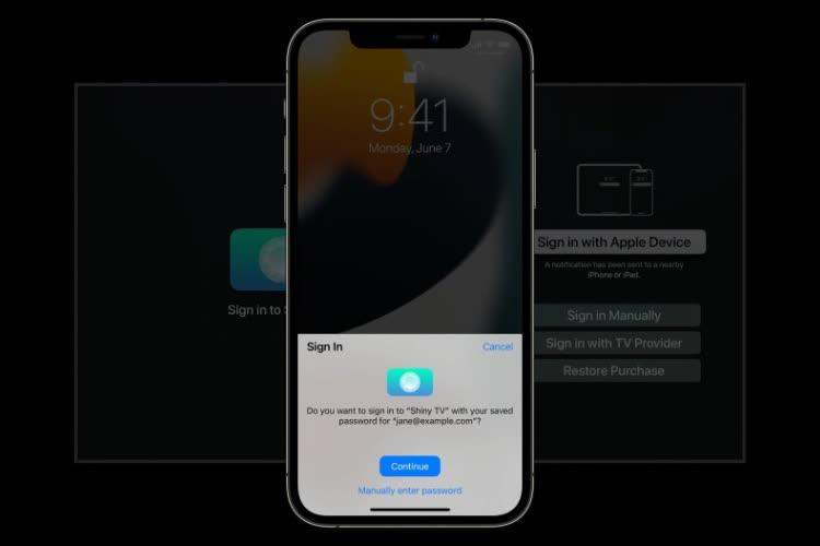 tvOS 15 : utiliser Face ID ou Touch ID pour se connecter dans une app Apple TV
