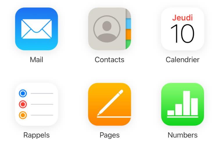 Nouvelle interface pour le client mail d'iCloud.com