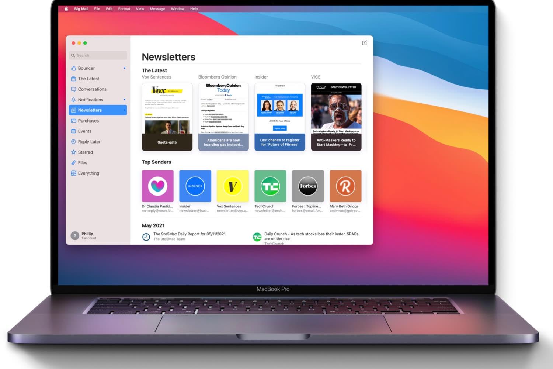 Big Mail : premiers pas hésitants pour ce nouveau client mail Mac et iPhone