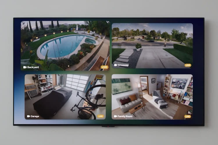 tvOS 15 : coup d'œil sur la grille de caméras HomeKit