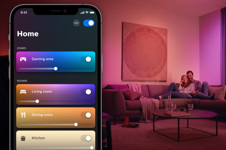 Domotique: mise à jour majeure de l'app Philips Hue