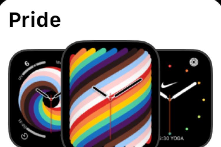 watchOS 8 : évolution d'interface pour le choix des cadrans
