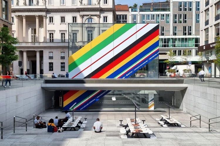 image en galerie : Les AppleStore passent aussi aux couleurs olympiques