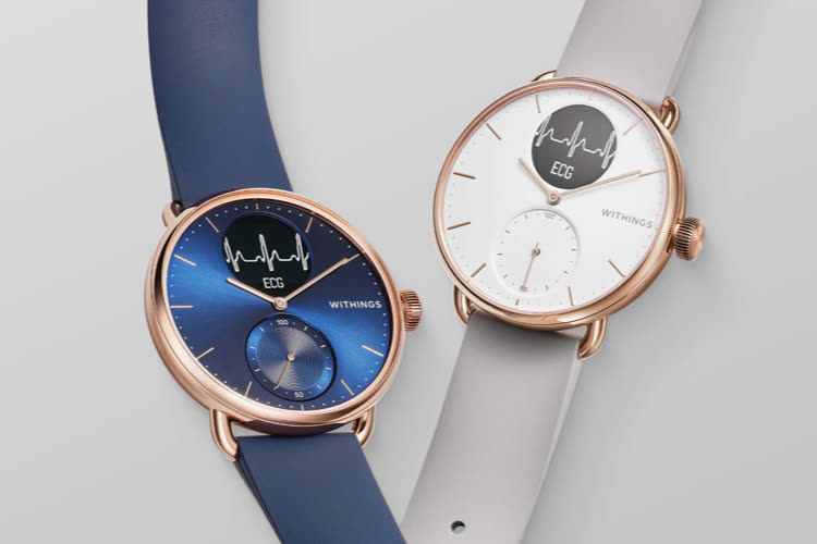 Withings : la ScanWatch voit rose