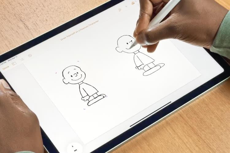 video en galerie : Un atelier Today at Apple sur YouTube, pour apprendre à se dessiner façon Snoopy
