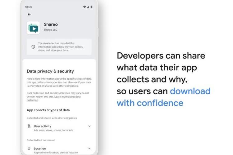 Google dévoile les futures fiches de confidentialité des apps Android