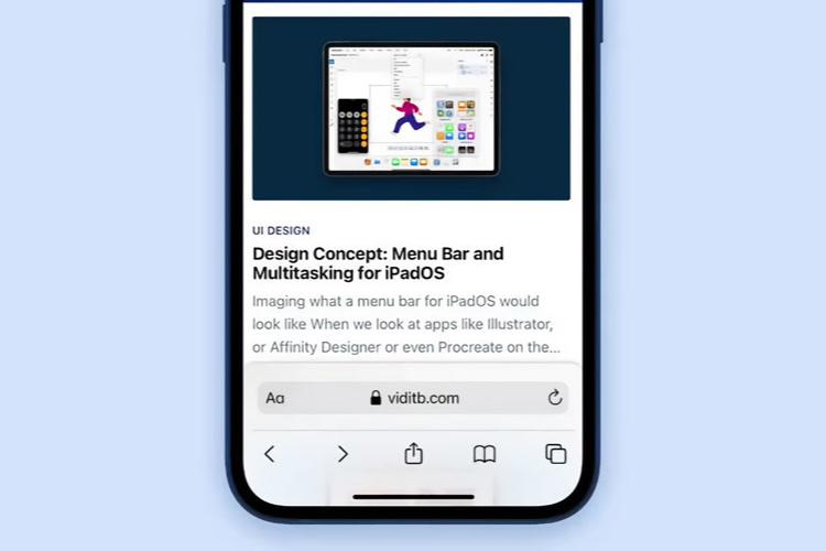 Safari 15 pour l'iPhone serait nettement plus simple et pratique avec ce concept