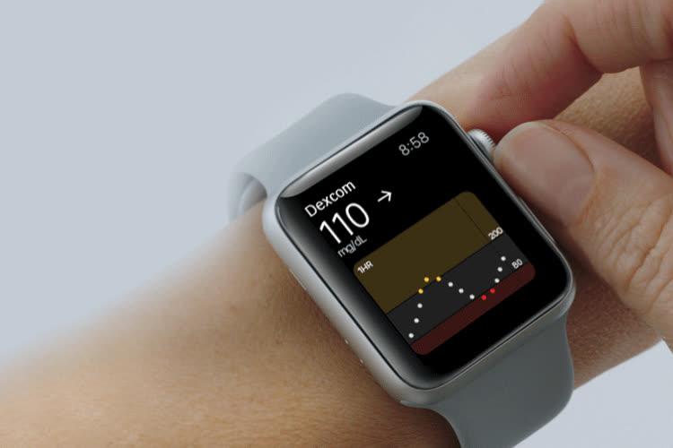 Dexcom pourra suivre la glycémie sur l'Apple Watch