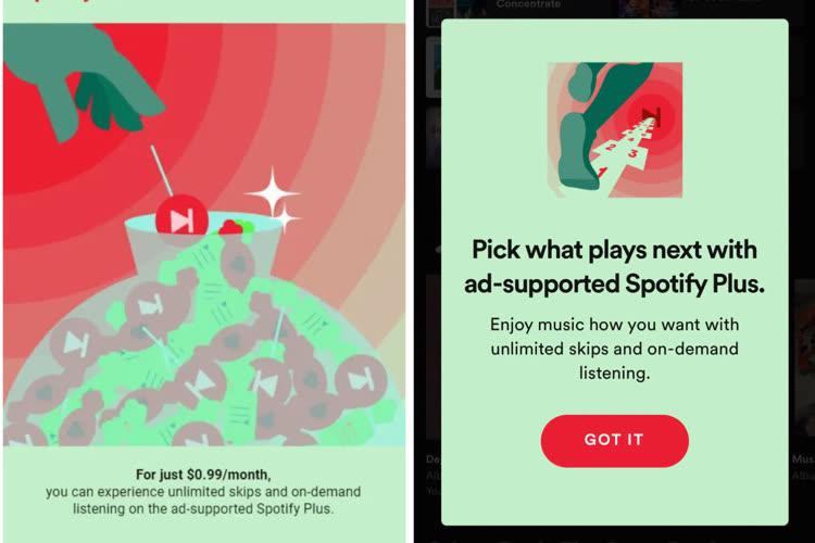 Spotify teste un abonnement à 1 $ seulement, mais avec des publicités
