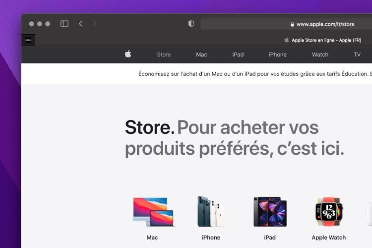 Nouvelle vitrine et nouvel onglet pour l'AppleStore en ligne