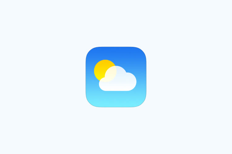 iOS15: Météo prévient qu'il va pleuvoir… en Bretagne