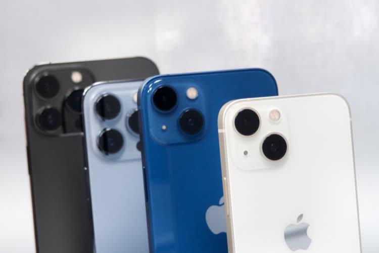 De l'iPhone13 mini à l'iPhone13 Pro Max, portrait de la famille au grand complet