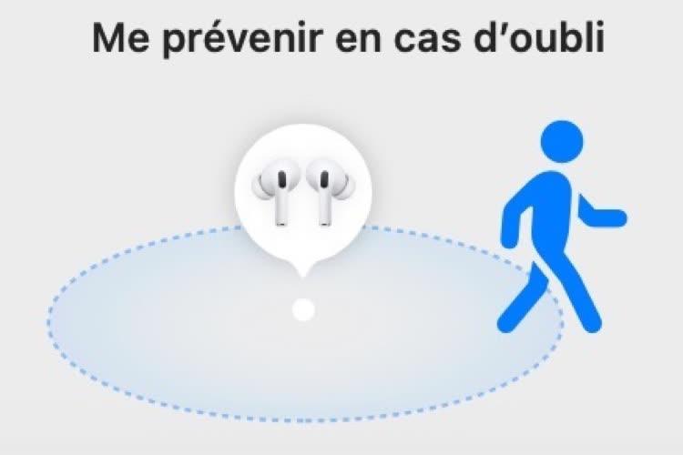 Localiser : l'alerte en cas d'oubli de ses AirPods Pro bugue avec certains iPhone
