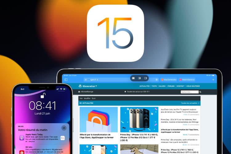 La version finale d'iOS 15.1 sera disponible la semaine prochaine