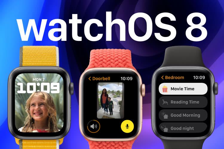 watchOS 8.1 maintenant au téléchargement