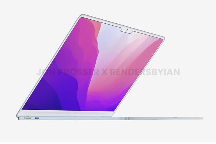 De nouveaux rendus pour le MacBookAir 2022