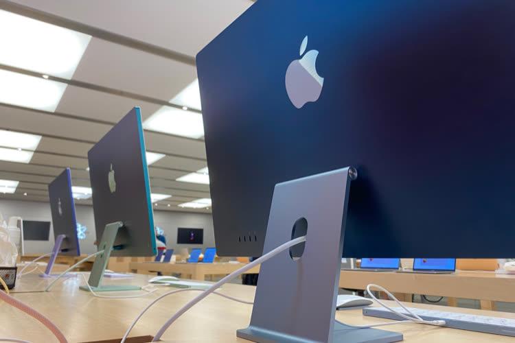 """iMac 24"""" M1 : du stock sur des configurations standard et gonflées en RAMetSSD"""