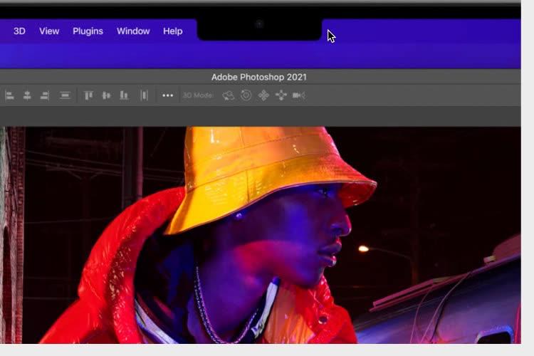 Le curseur de la souris passera en dessous de l'encoche des MacBookPro