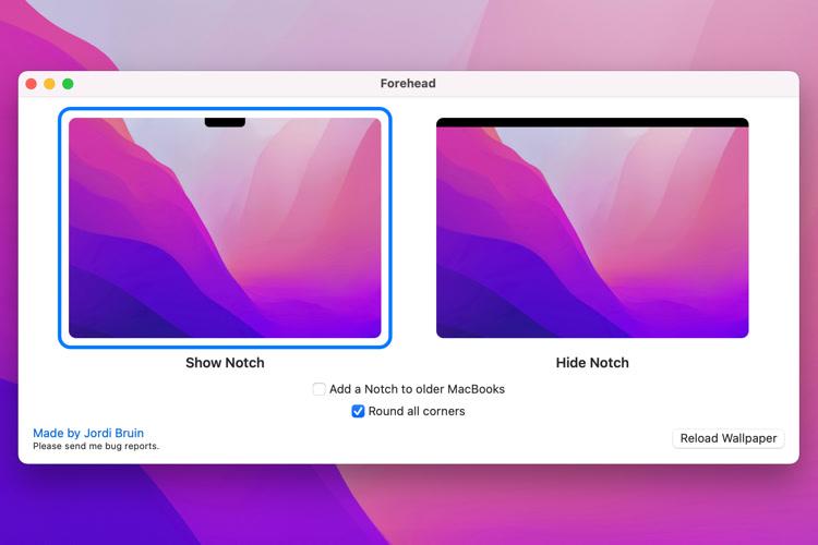 Une app a trouvé comment masquer l'encoche des nouveaux MacBookPro